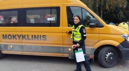 Širvintose tikrinti mokykliniai autobusai