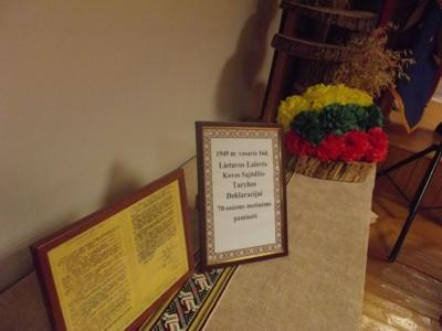Paminėtos Lietuvos Laisvės Kovos Sąjūdžio Deklaracijos 70-osios metinės