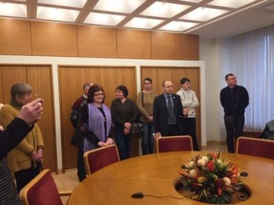Ekskursijos Seime momentas