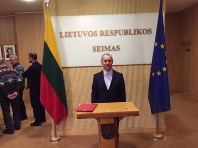 Jurbarko esperanto klubo prezidentas Stanislovas Raulynaitis