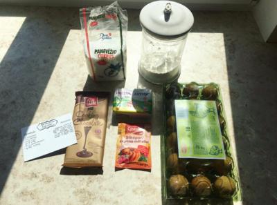 Produktai, reikalingi keksiukų gaminimui