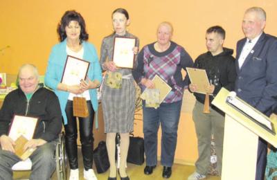 Su Padėkomis – aktyviausi Neįgaliųjų Sąjungos nariai.