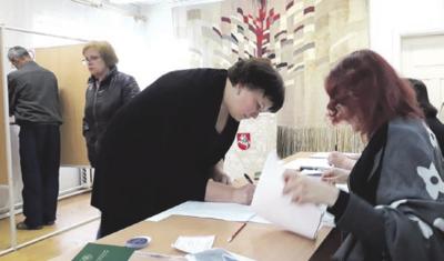 Stasiūnų rinkimų apylinkėje Nr. 14 darbas vyko sklandžiai.
