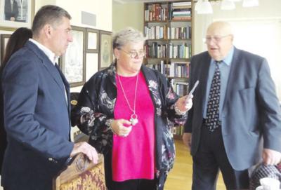Į susitikimą atvyko A. Brazausko brolis Gerardas, jo sūnus ir Prezidento dukra L. Mertinienė.