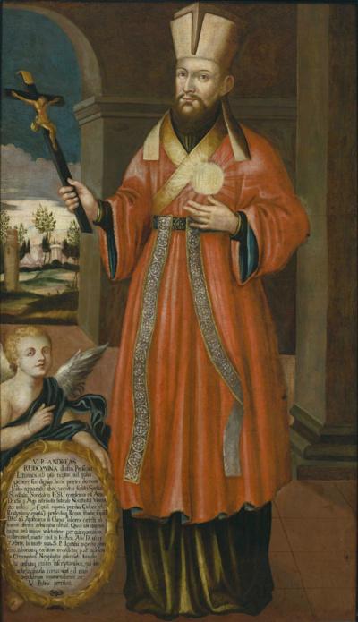 A. Rudamina. Jis buvo toliausiai nukeliavęs ir pirmasis Kiniją pasiekęs Lietuvos jėzuitas.