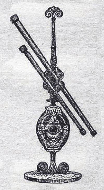 Teleskopas. Kinams, uoliai besidomintiems astrologija, A. Rudamina pademonstravo teleskopą.