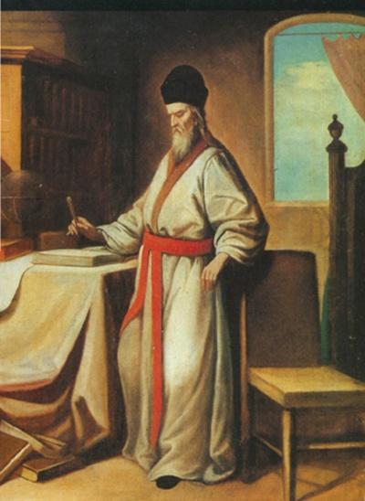 M. Ričis. Jis pirmasis Europoje išmoko kinų kalbą, galėjo rašyti mokslininkų bei valdininkų kalba. Būtent M. Ričio dėka jėzuitų misionieriams atsivėrė keliai į Kiniją.