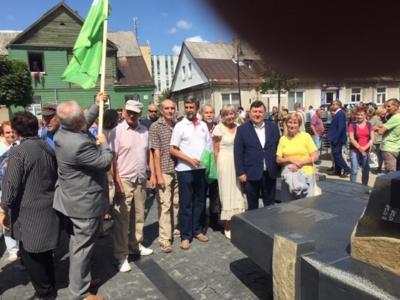 Jurbarko esperantininkai su Lietuvos Respublikos seimo nariu, Nepriklausomybės Akto Signataru Emanueliu Zingeriu