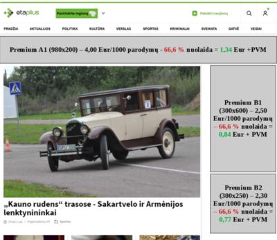 """Etaplius """"Premium"""" kompiuterio ekrano reklamos vietų vizualizacija"""