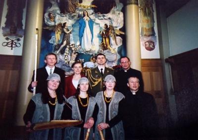Šv. Cecilija– muzikantų globėja. R. Kalakauskienė sako, kad šventosios vardas ansamblio pavadinime atsirado savaime. (R. Kalakauskienės asmeninio archyvo nuotr.)