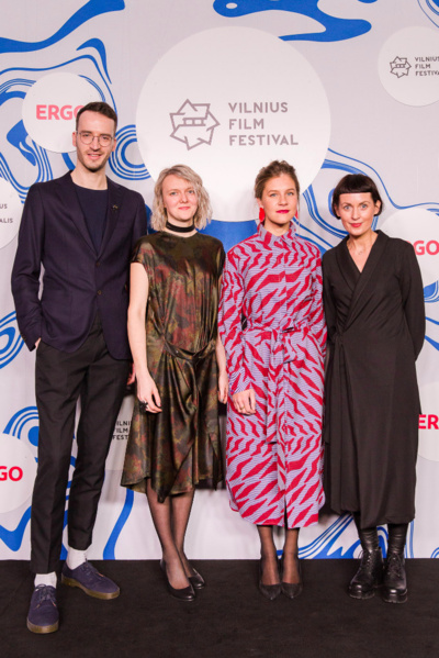 """Festivalio """"Kino pavasaris"""" programos sudarytojai. Iš kairės: Gediminas Kukta, Mantė Valiūnaitė, Aistė Račaitytė, Dovilė Raustytė. Asmeninio albumo nuotrauka."""