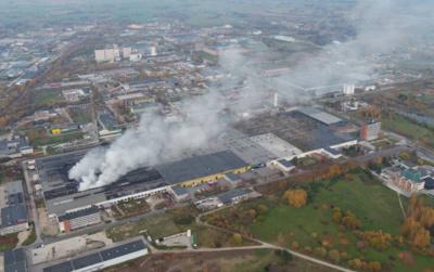 """""""Ekologistikoje"""" kilęs gaisras įjautrino gyventojus. PAGD nuotr."""