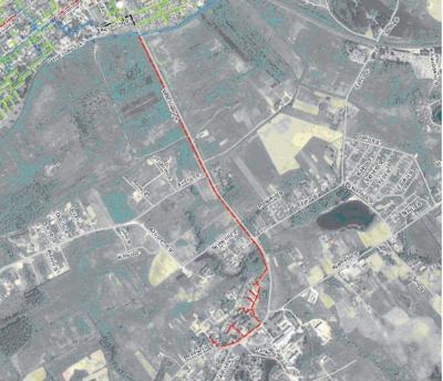 Stasiūnų kaimas, dujotiekio ilgis apie 2,9 km