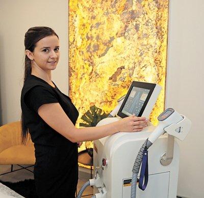 Su diodų lazeriu dirbanti Agnė Varnagirienė garantuoja ilgalaikį rezultatą.