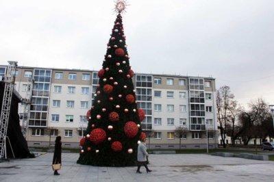 Jonavos miesto eglutė 2015m.