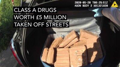 Operacijo metu aptiktas kokainas. London Police nuotr.
