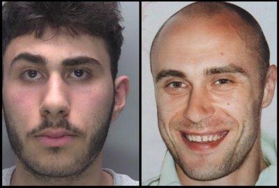 Hikmetas Maezas (kairėje) ir Gediminas Vaitkus. Lincolnshire Police nuotr.