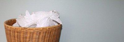 Sulamdytos servetėlės šiukšlių dėžėje© Pixabay.com