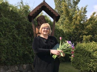 """Motinos dienos proga 44 mamoms ir globėjoms visoje Lietuvoje įteikti ordino """"Už nuopelnus Lietuvai"""" medaliai. Dangira Nefienė. Prezidento kanceliarijos nuotr."""