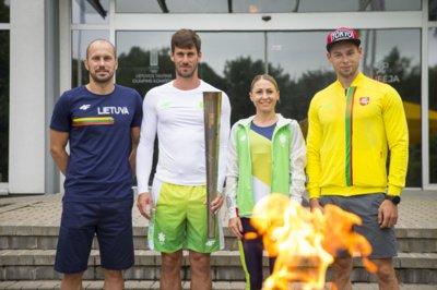 Justinas Kinderis, Juozas Bernotas, Laura Asadauskaitė ir Mindaugas Maldonis (R. Lukoševičiaus/LTOK nuotr.)
