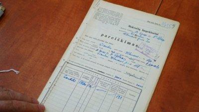 Prieš karą šioje Vilniaus g. atkarpoje stovėjo daugiausia žydų nameliai. Tai liudija tame pačiame archyve saugomos mokesčių inspektorių deklaracijos. (Audronio Rutkausko nuotr.)