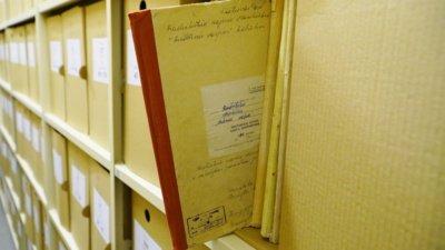 Šiaulių regioniniame valstybės archyve saugoma daugiau nei 400 tūkst. bylų. (Audronio Rutkausko nuotr.)